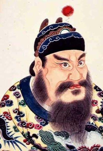 Портрет Цинь Ши Хуана, первого императора династии Цинь.